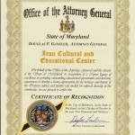 ICEC-MD State Attoryney General-Recognition Letter